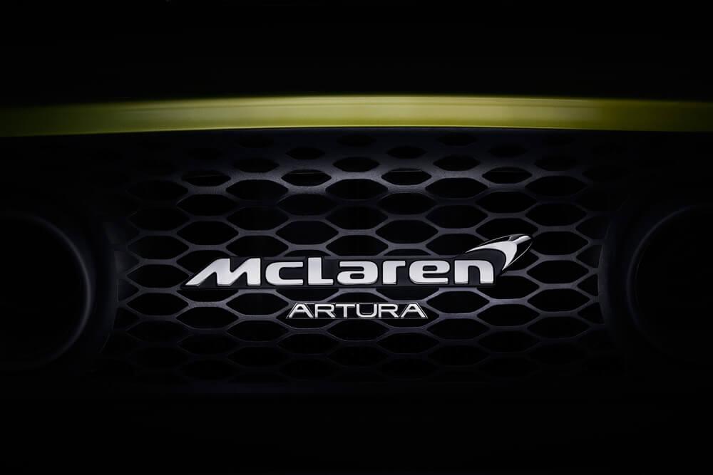 McLaren Artura Hybrid Teaser Front On