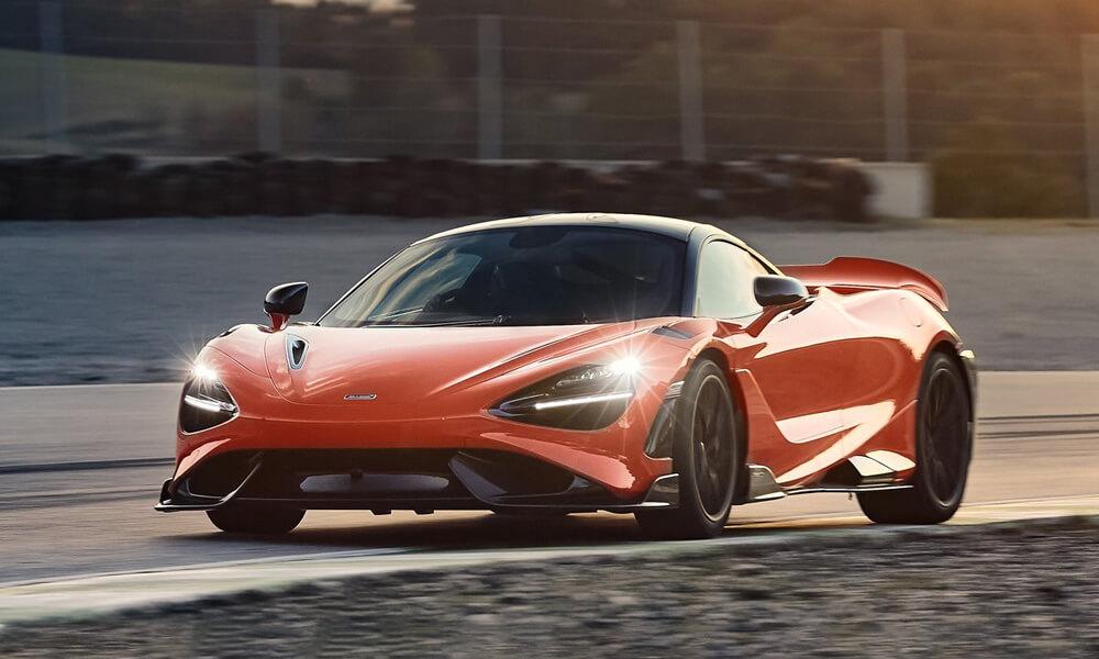 McLaren 765LT Super Series Longtail on race track
