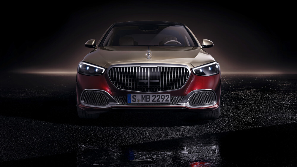 The front chrome radiator grille of the Mercedes-Maybach S-Class. Credit: Mercedes-Benz