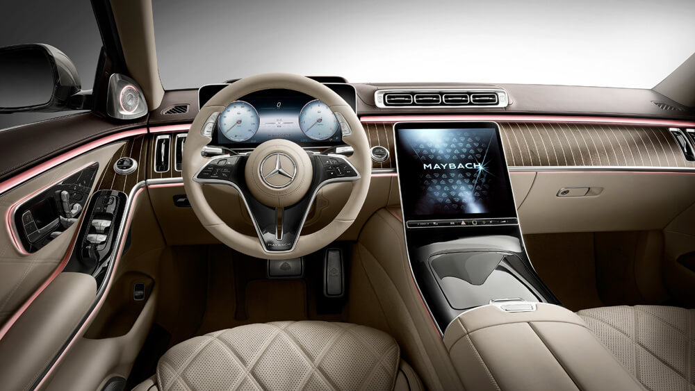 Optional ambient lighting can be adjusted to suit the driving mood. Credit: Mercedes-Benz