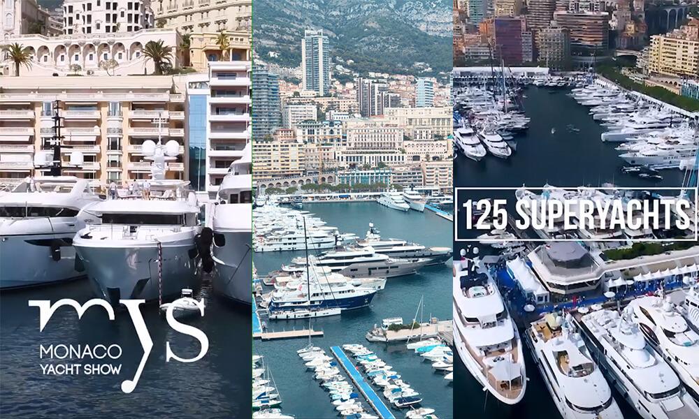 Monaco Yacht Show Aerial