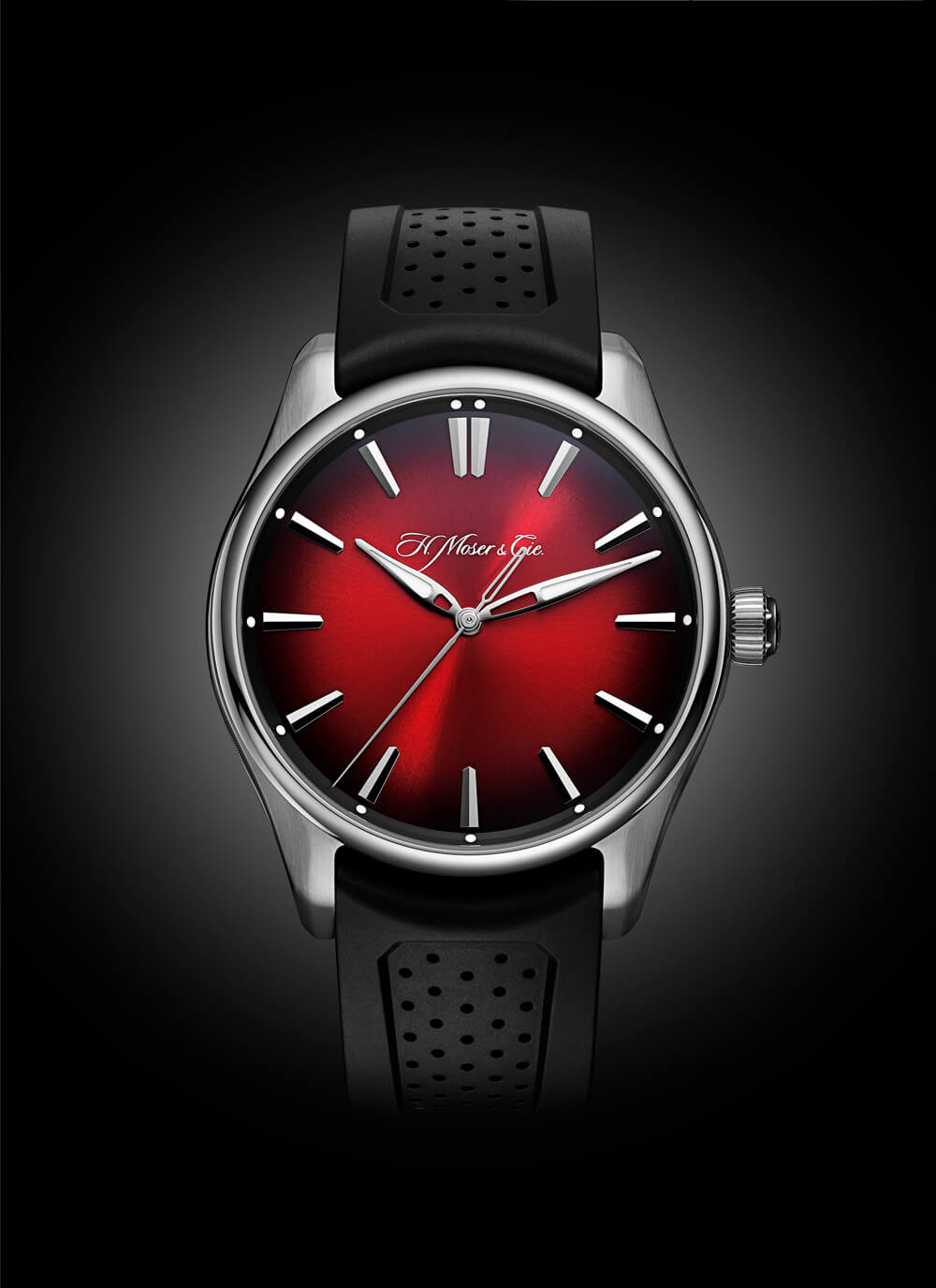 H Moser Cie Pioneer Centre Seconds Swiss Mad Red Fume Edition