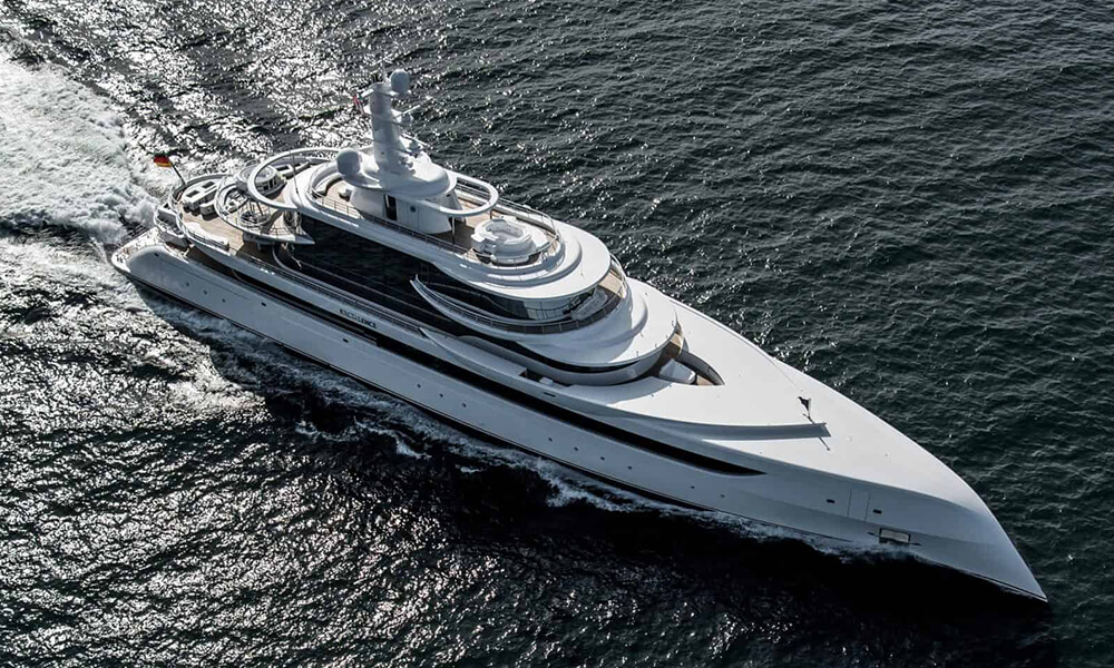 Motor yacht Excellence by Abeking Rasmussen aerial view