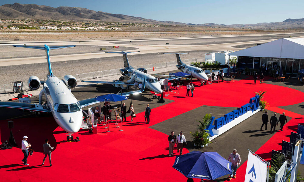 NBAA Business Aviation Convention Exhibition Las Vegas Embraer