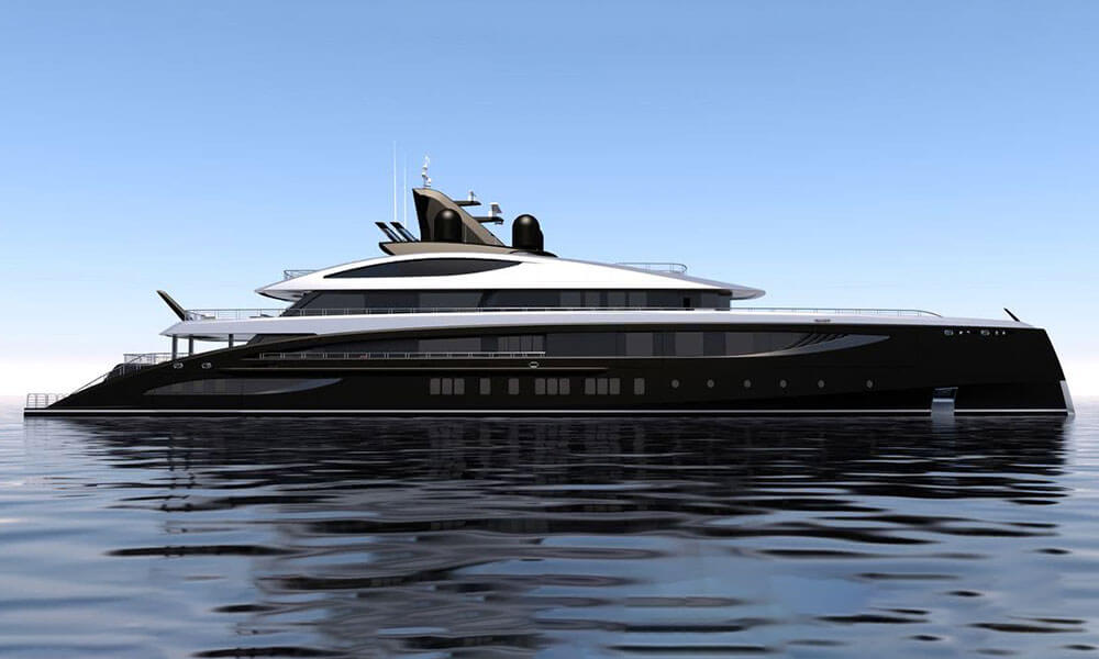 Nobiskrug Black Shark Yacht Project 793 daytime render