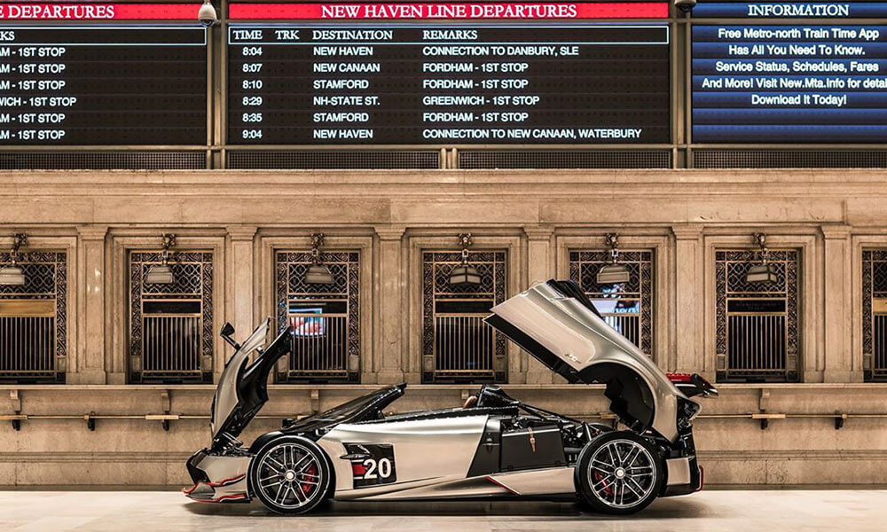 Pagani Huayra Roadster BC in Grand Central Terminal New York