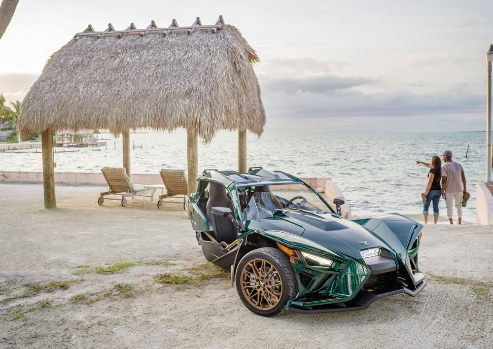 Polaris Slingshot Grand Touring LE At The Beach