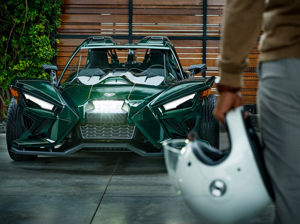 Polaris Slingshot Grand Touring LE Green Front View