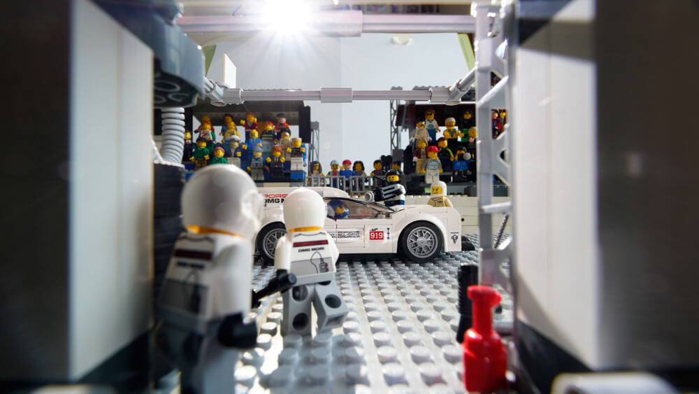 Everything is awesome at the Porsche pit lane. Credit: Dominic Fraser