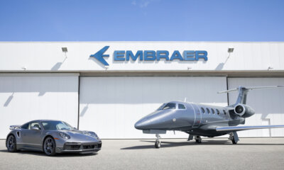 Porsche 911 Turbo S Limited Edition Duet Embraer Phenom 300E