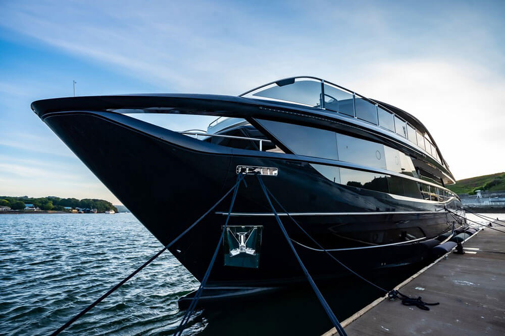 Princess Yachts X95 Docked