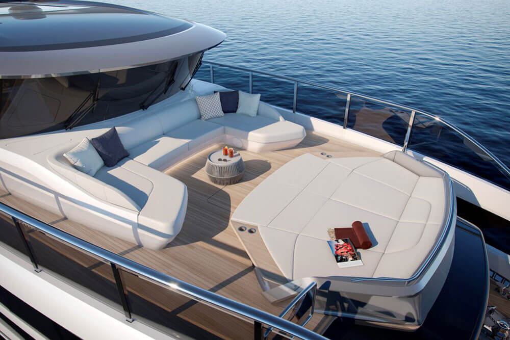Princess Yachts X95 Exterior Upper Deck Bow