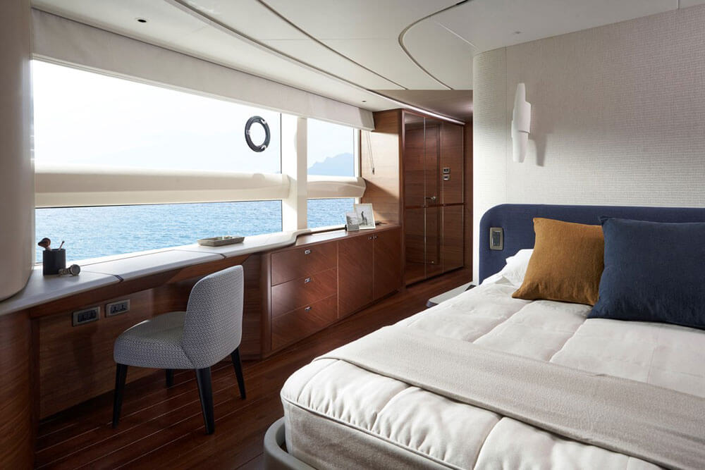 Princess Yachts X95 Interior Master Stateroom Dressing Area
