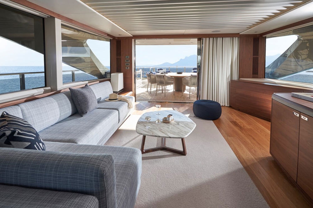 Princess Yachts X95 Interior Skylounge View