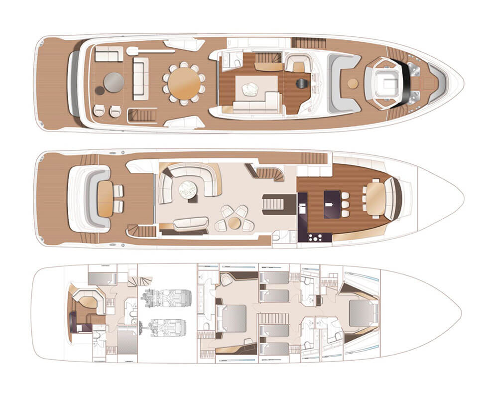 Princess Yachts X95 Trio Decks