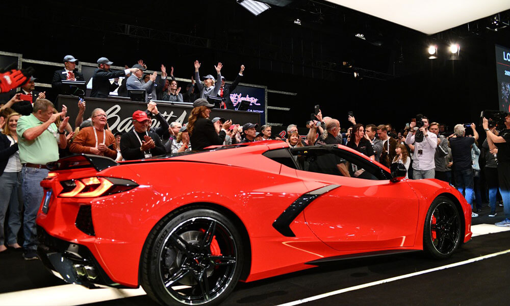 Rick Hendrick purchases Chevrolet Corvette C8 VIN 001 Barrett Jackson Auction 2020