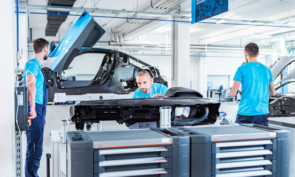 Rimac Automobili C_Two Electric Hypercar Prototype Assembly Line