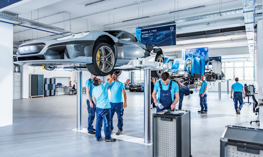 Rimac Automobili C-Two Electric Hypercar Prototype Assembly Production Line