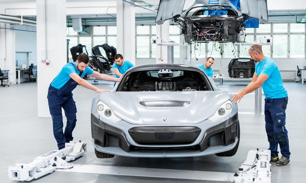 Rimac Automobili C-Two Prototype Assembly Line Workshop