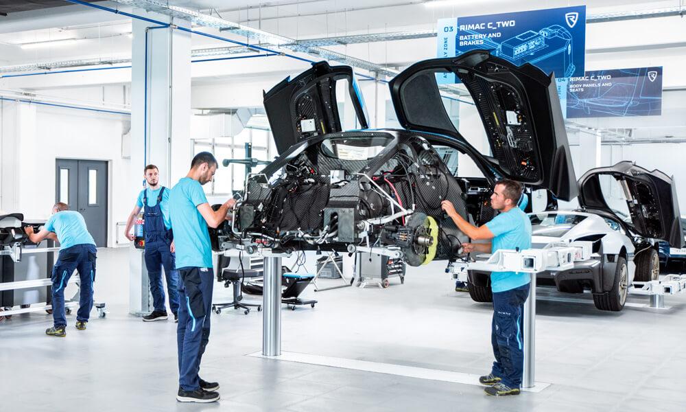 Rimac Automobili C-Two Prototype Assembly Line
