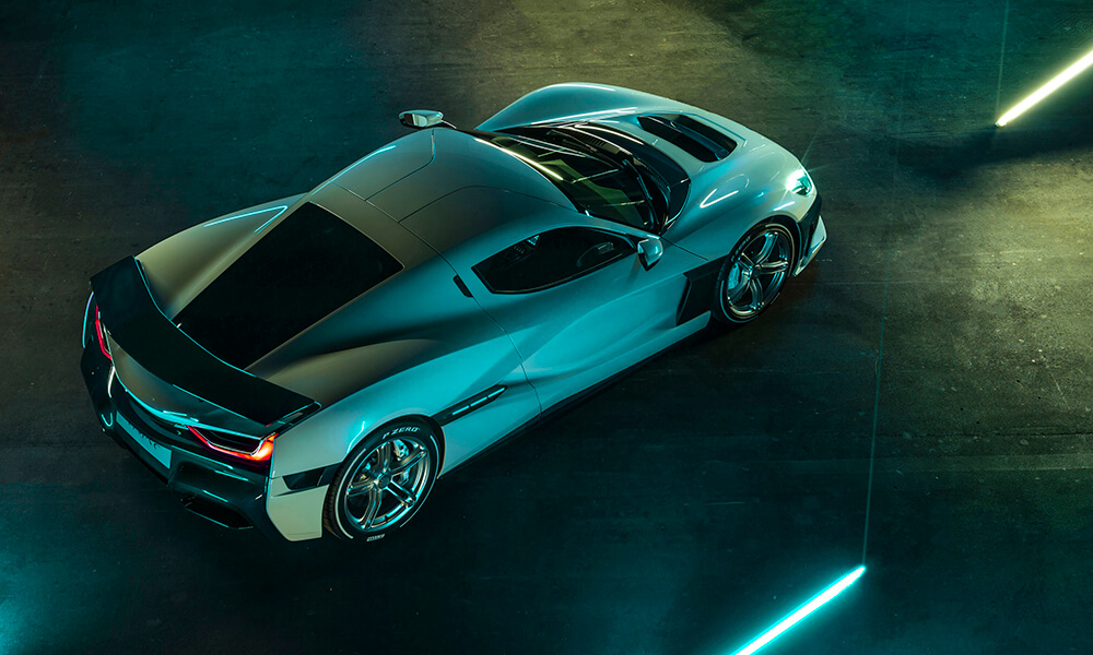 Rimac C TWO top view