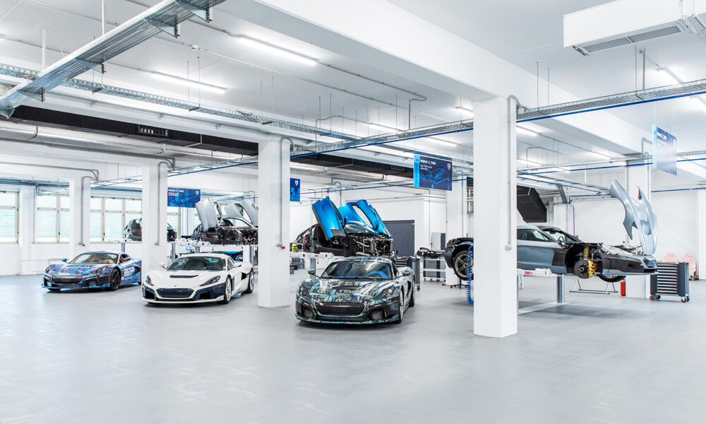 Rimac C-Two Electric Hypercar Prototype Assembly Line