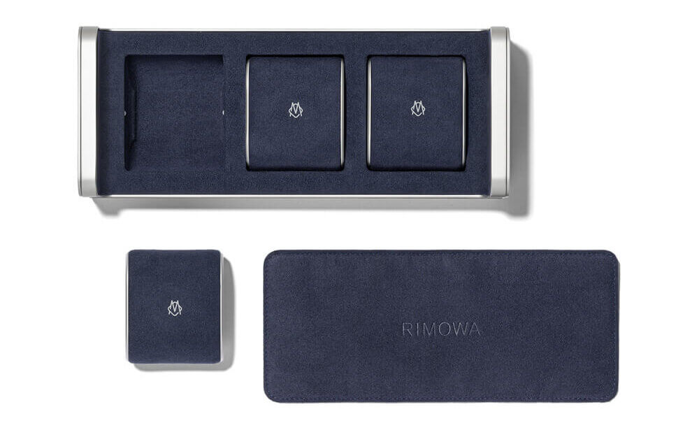 Microfiber lined interior to ensure the watch face and bands are not scratched. Credit: RIMOWA