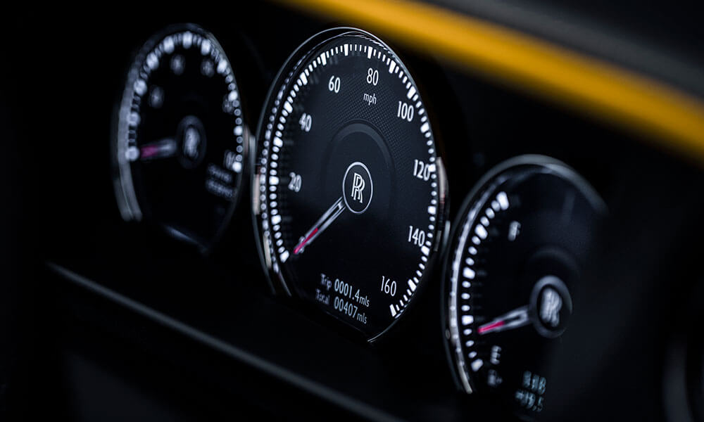 Instrument Cluster In The Rolls Royce Black Badge Cullinan