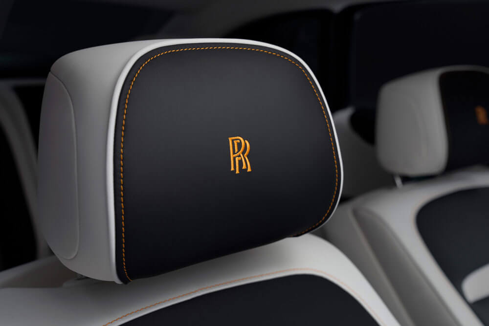 Rolls-Royce Ghost Extended Embroided Seat Headrests