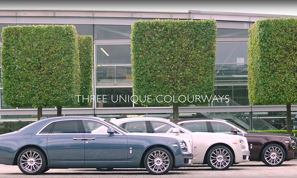 Rolls Royce Ghost Zenith Collection Seen In TheThree Colourways