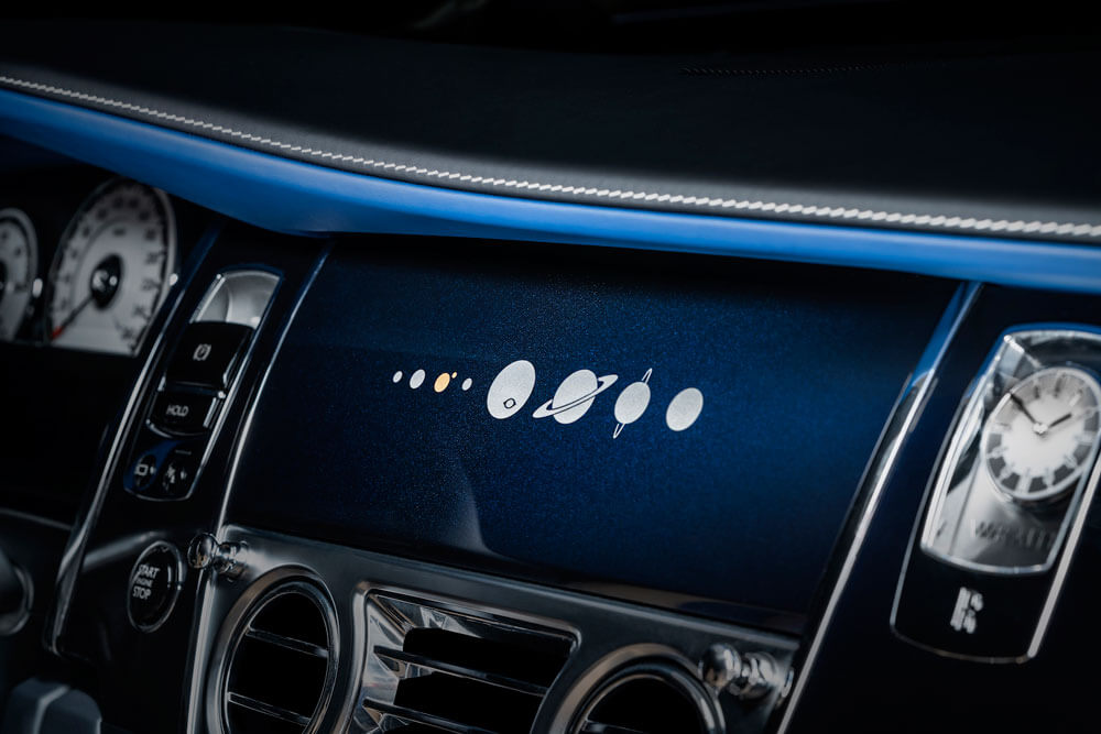 Solar system elements on the dash board. Credit: Rolls-Royce Motor Cars