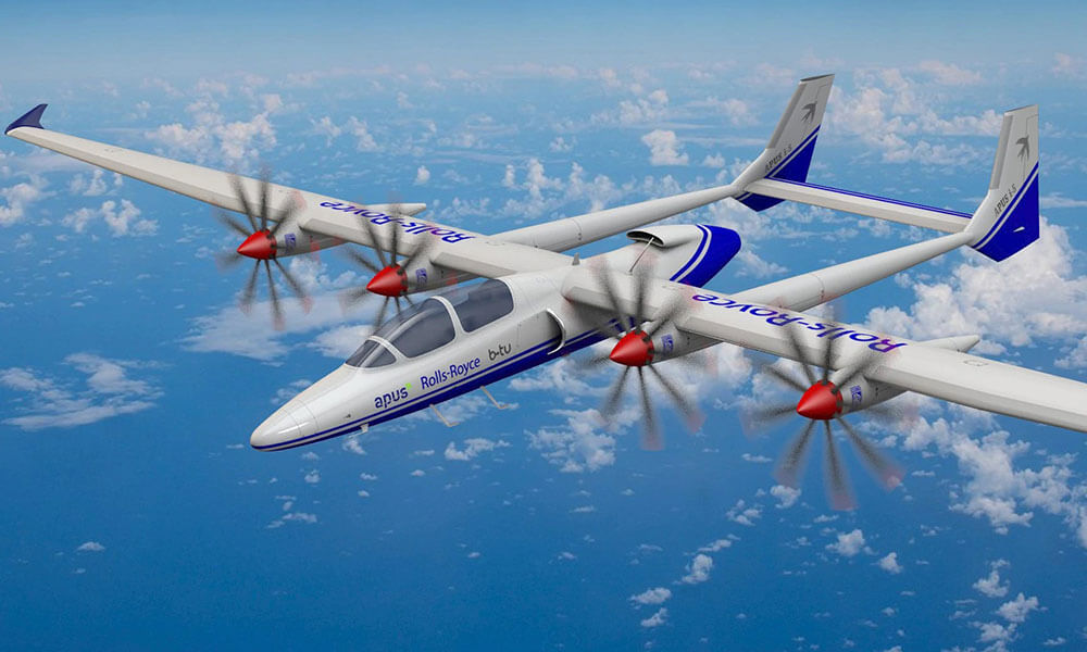 Rolls-Royce hybrid electric  APUS i-5 demonstrator aircraft