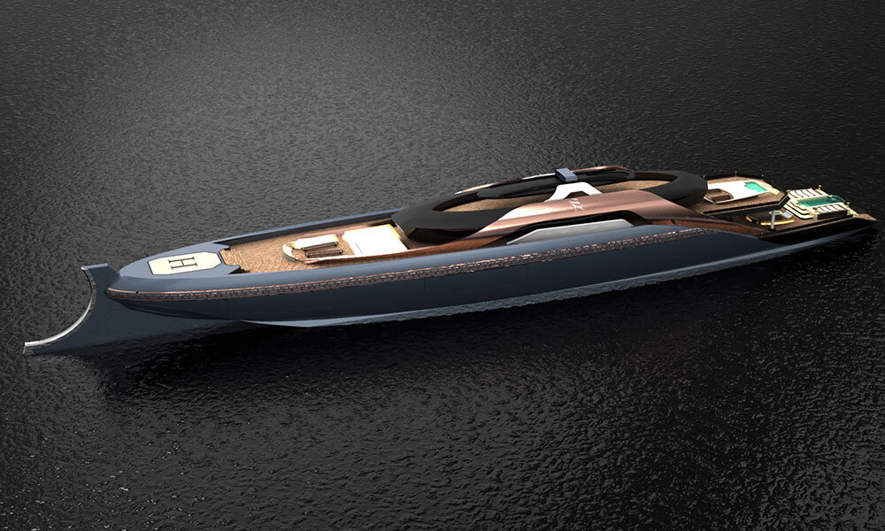 Roman inspired ODYSSEUS megayacht design by Souhaib Rouissi