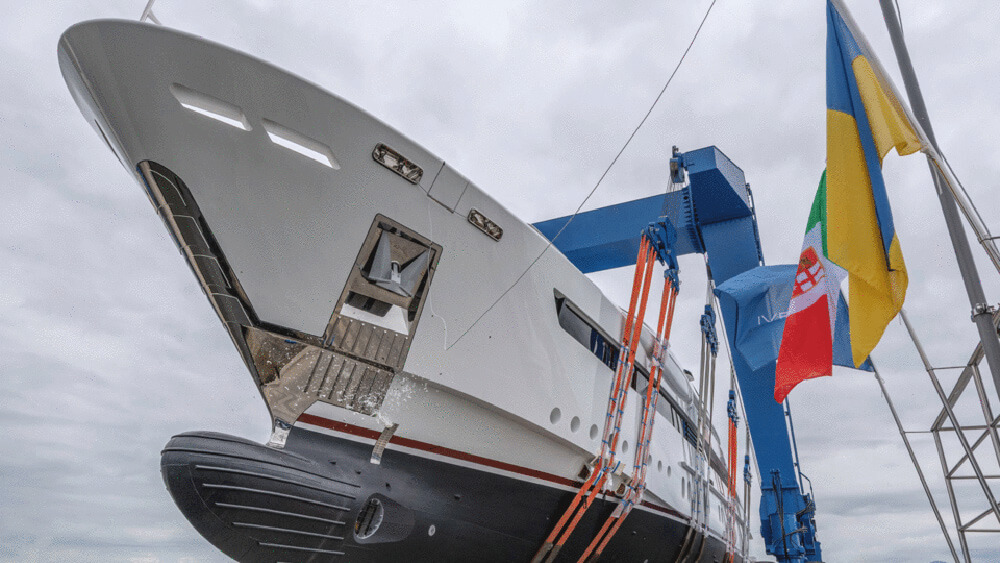 ReadyLaunching the Rossinavi built Florentia superyacht