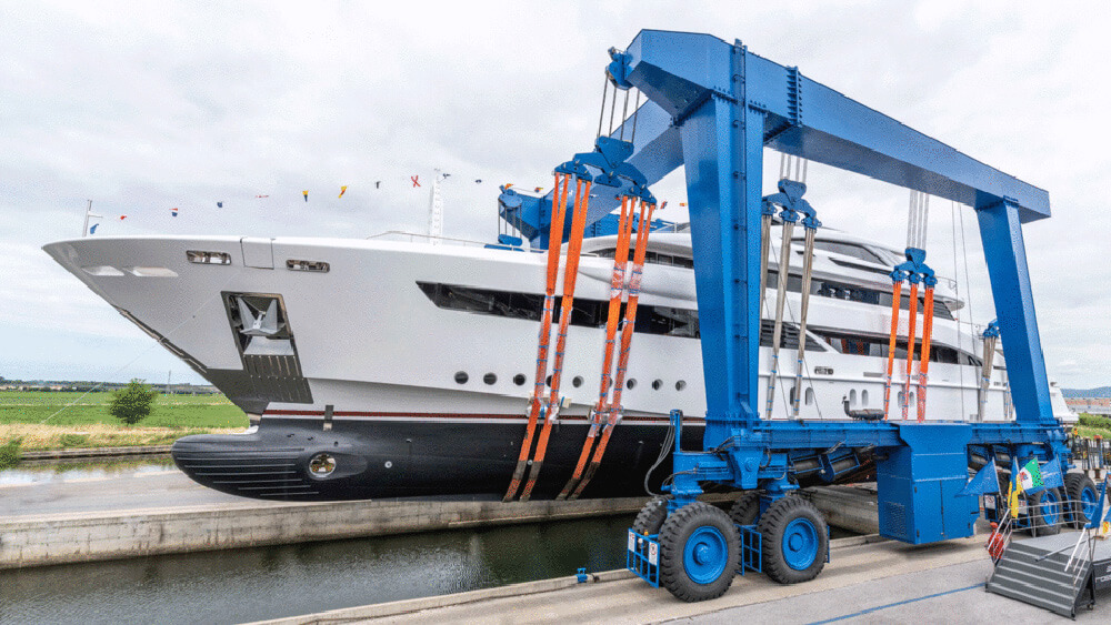 Ready to launch the Rossinavi built Florentia superyacht