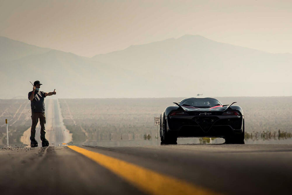SSC Tuatara Fastest Hypercar Record Attempt Driving