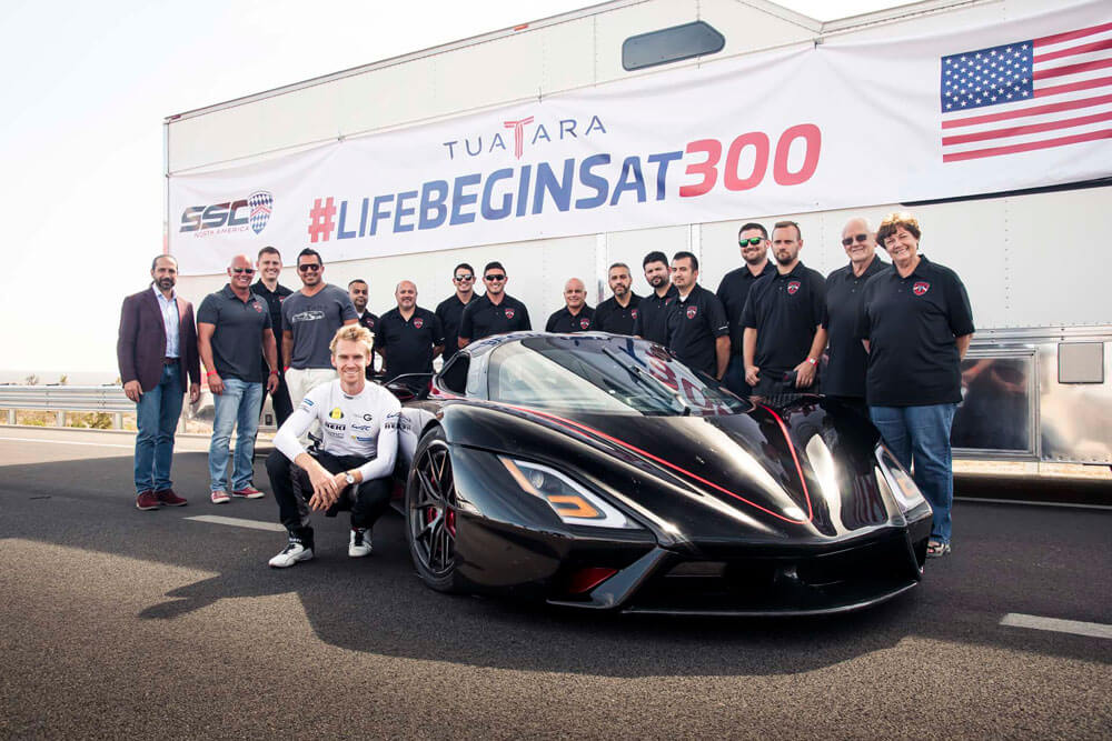 SSC Tuatara Fastest Hypercar Record Attempt Team