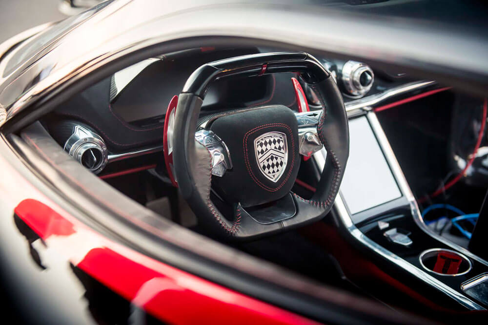 SSC Tuatara Fastest Hypercar Steering Wheel