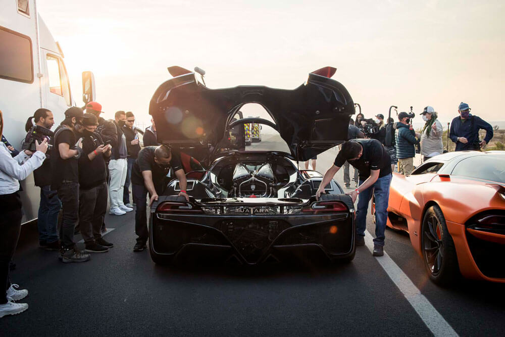 SSC Tuatara Fastest Car Record Attempt Rear View