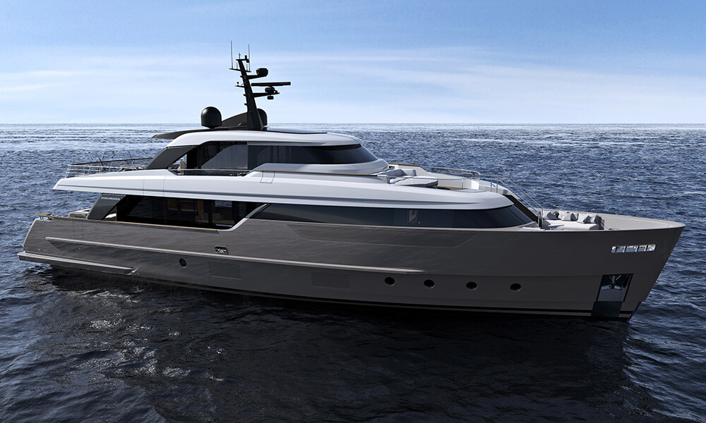 Sanlorenzo Yachts SD96 side view