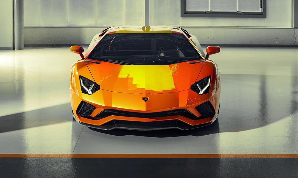 Street Art Lamborghini Aventador S by Skyler Grey front