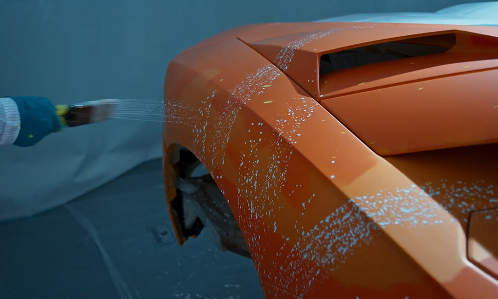 Street Art Lamborghini Aventador S by Skyler Grey-paintbrush