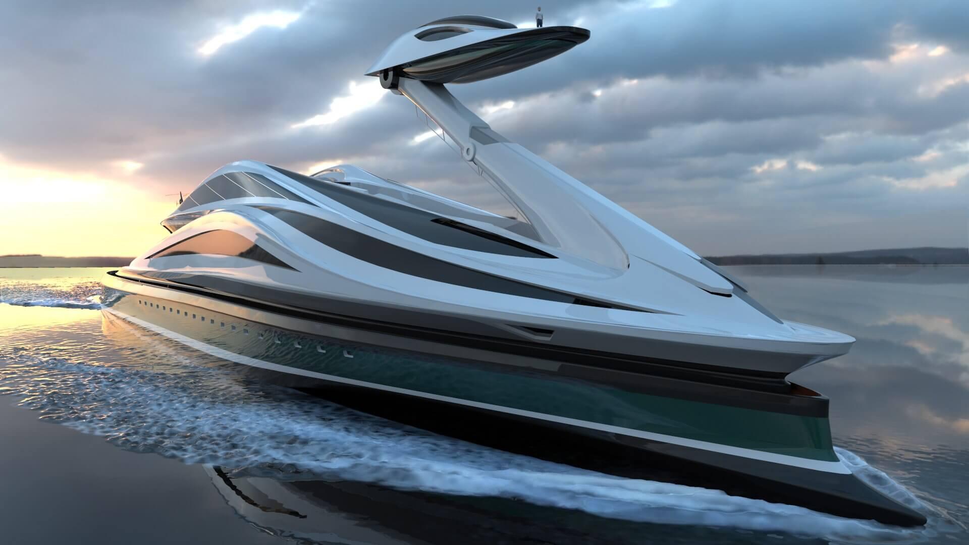 Superyacht Concept Avanguardia The Swan by Lazzarini Studio Design 137 metres platform