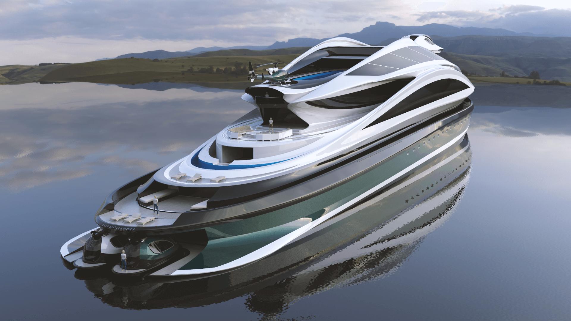 Superyacht Concept Avanguardia The Swan by Lazzarini Studio Design 137 meters