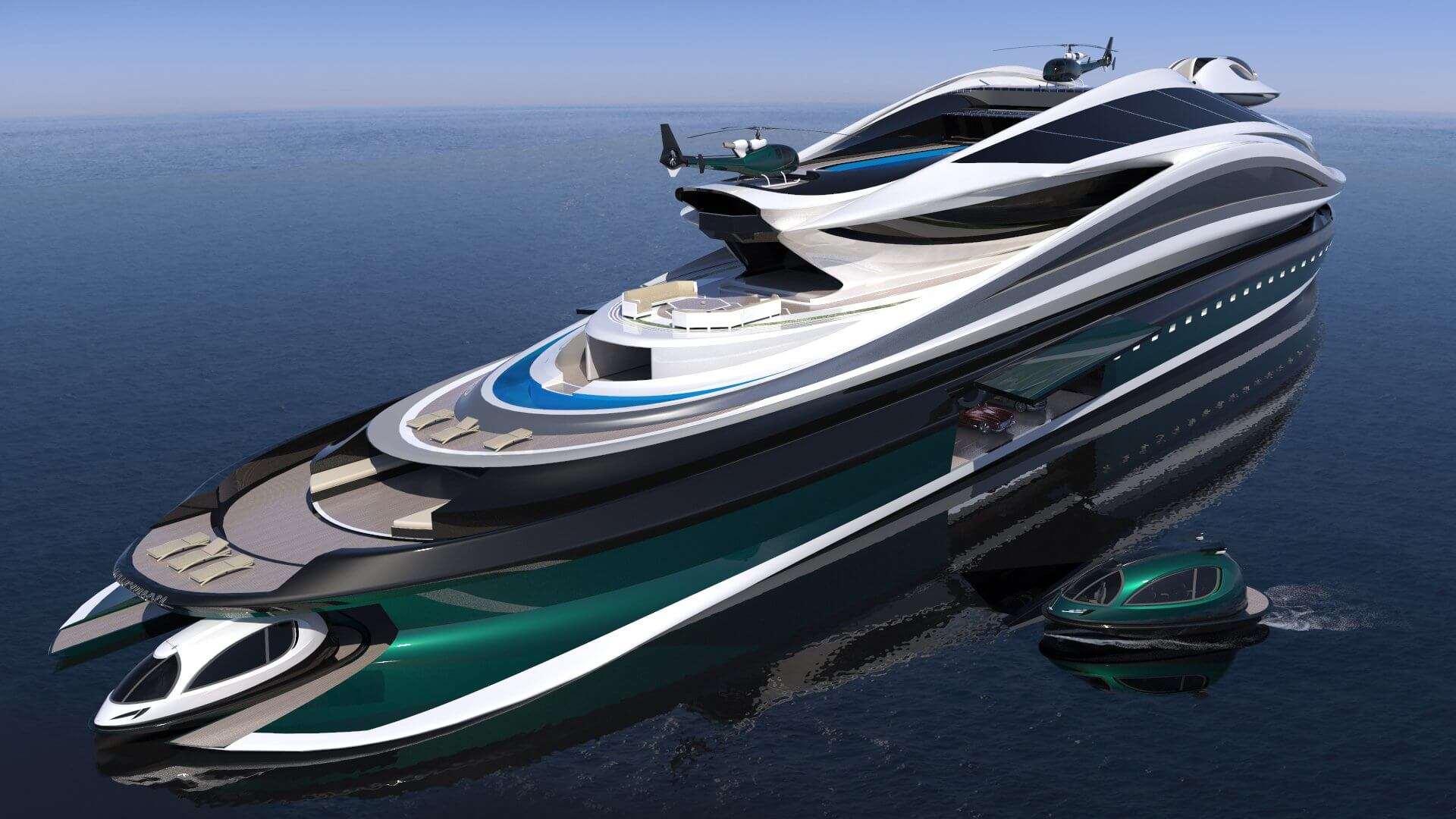 Superyacht Concept Avanguardia The Swan by Lazzarini Studio Design Jet Capsule Tender