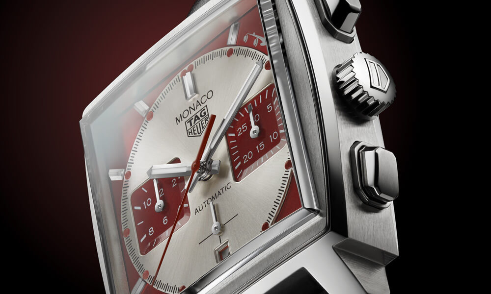 Tag Heuer Monaco Grand Prix Historique Watch Side Profile TAG Heuer Grand Prix de Monaco Historique Limited Edition. Credit: TAG Heuer