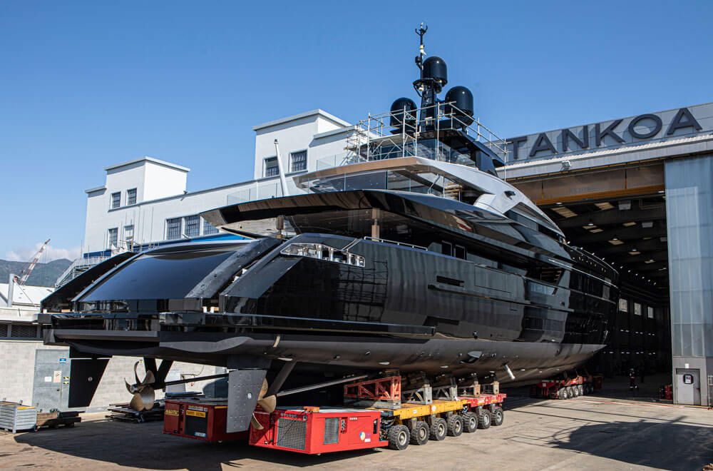 M/Y Olokun will now undergo systems testing and sea trials before final delivery. Credit: Tankoa Yachts