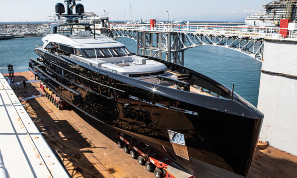 Tankoa Olokun Superyacht Launch Side Front View