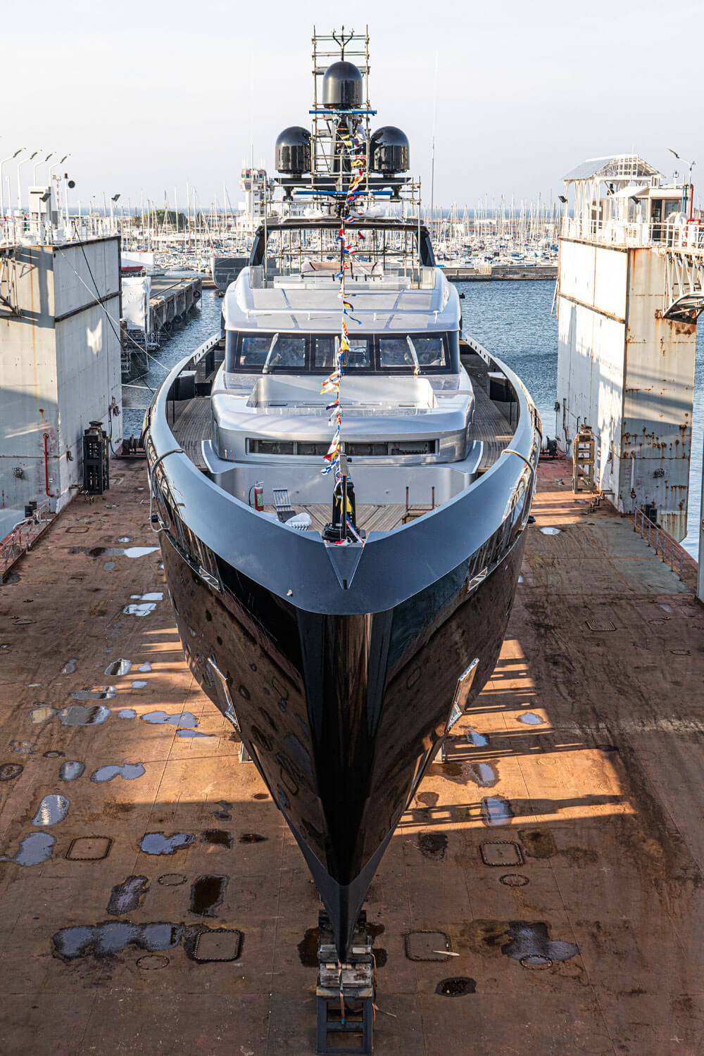 M/Y Olokun was started on spec before finding an owner earlier this year. Credit: Tankoa Yachts