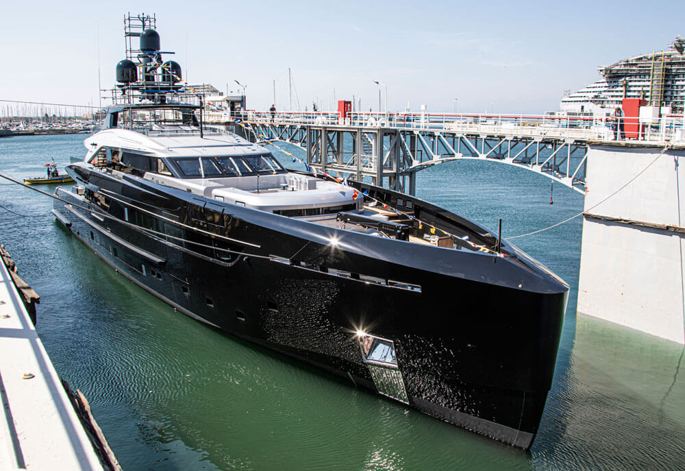 Technical launch of  M/Y Olokun superyacht. Credit: Tankoa Yachts